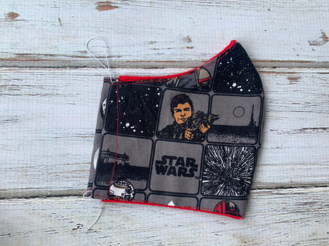 Star Wars Face Mask 7-12 year old size