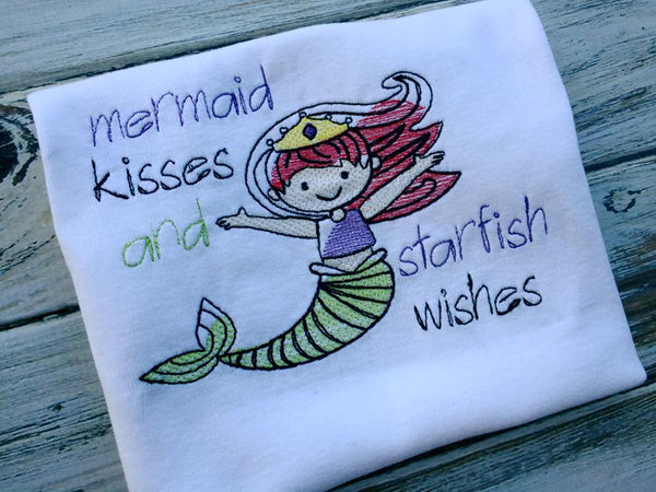 Mermaid Kisses and Starfish Wishes Shirt or onesie