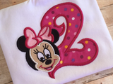 Minnie Mouse 2nd Birthday Shirt