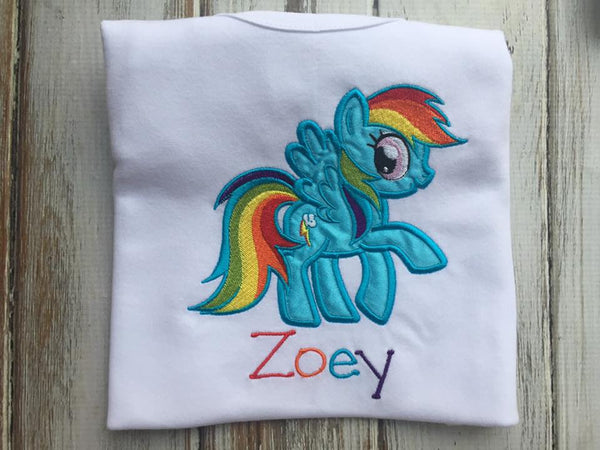 Rainbow Dash My Little Pony Shirt or onesie