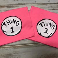 Thing 1 and Thing 2 shirts or onesies