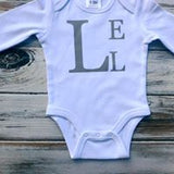 Monogrammed onesie or shirt