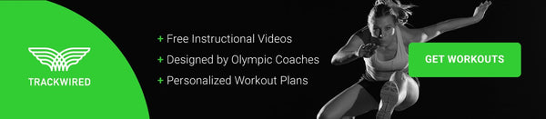 track and field training plans with workout descriptions and video instruction