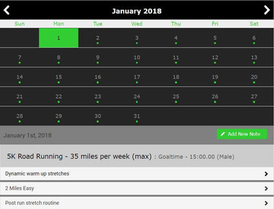 5K Training - Single Level - 16 Weeks - Trackwired