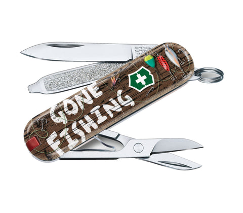 Švicarski nož Victorinox Classic 0.6223.L2005, Gone Fishing, limited edition