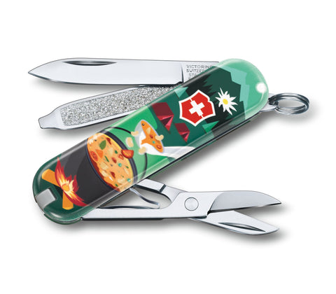 Švicarski nož Victorinox Classic 0.6223.L1907, Swiss Mountain Dinner, limited edition