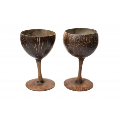 Coconut Shell Wine Glasses (Set of 2)