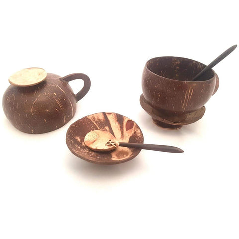 Coconut Cup & Saucer (Set of 2)