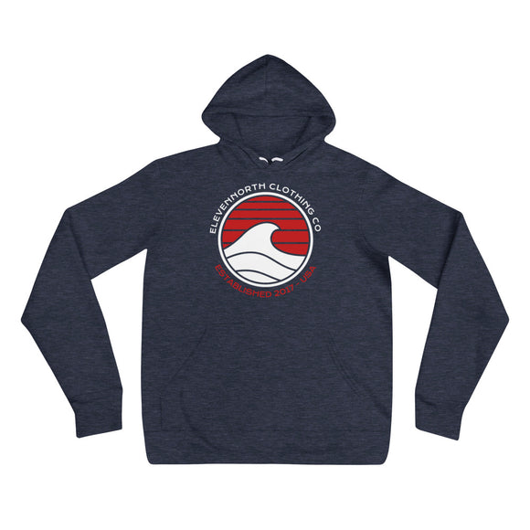 Crested Wave Fleece Hoodie