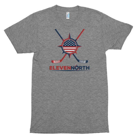Tri-Blend USA Stick & Puck T-Shirt