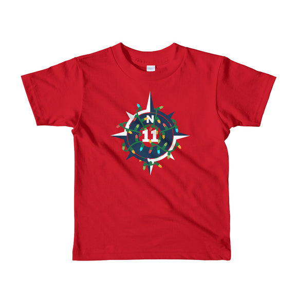 Kids Christmas Compass Holiday T-Shirt