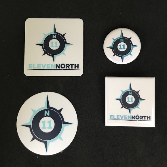 ElevenNorth Sticker & Button Pack