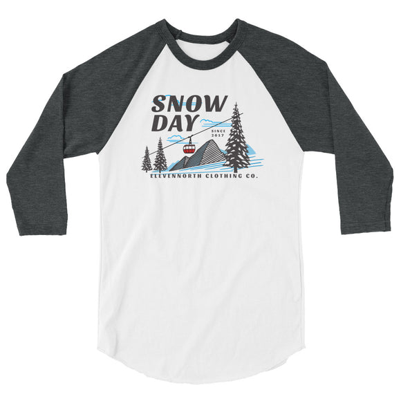 Snow Day 3/4 Sleeve Raglan