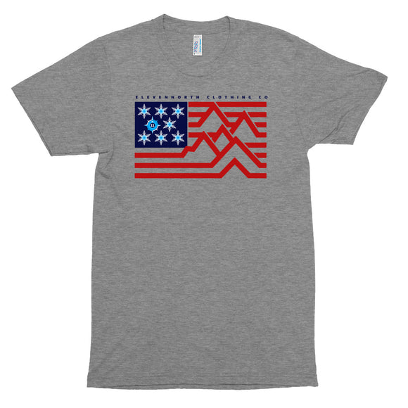 Snow Flag Tri-Blend T-Shirt