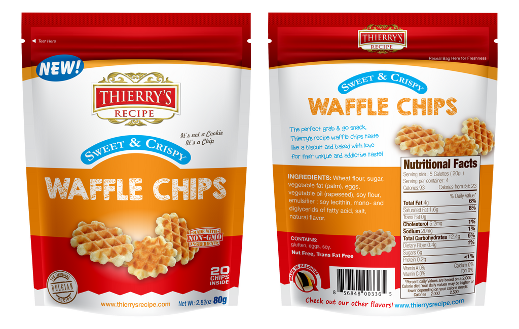 Thierry's Recipe Waffle Chips 6-pack
