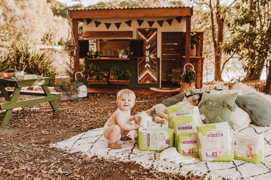 WIN A YEAR'S SUPPLY OF NAPPIES AND A CUSTOM-DESIGNED CUBBY HOUSE!