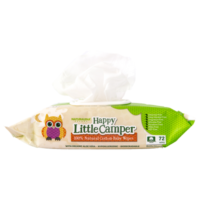 Happy Little Camper Natural Cotton Wipes