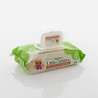 Open lid on 100% natural cotton wipes