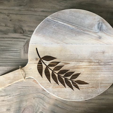 Rustic Round large serving board
