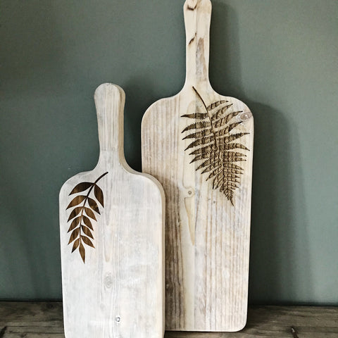 Rustic Rectangular Handled Serving boards