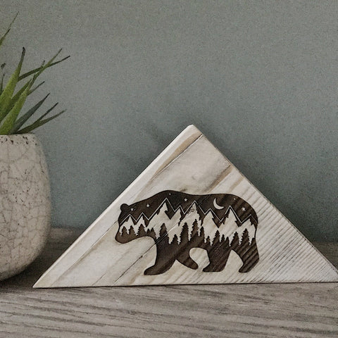 Rustic Bear block
