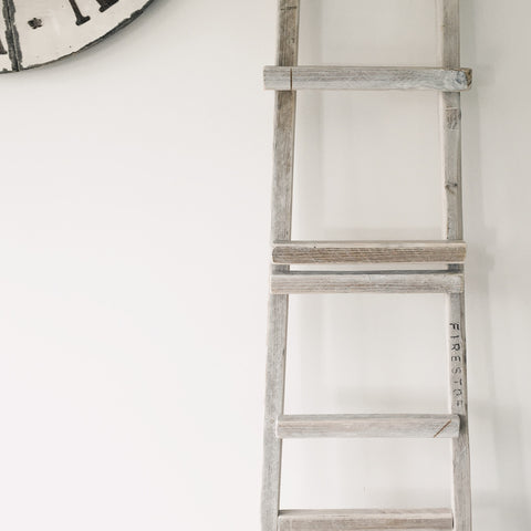 Rustic re claimed ladder for decoration