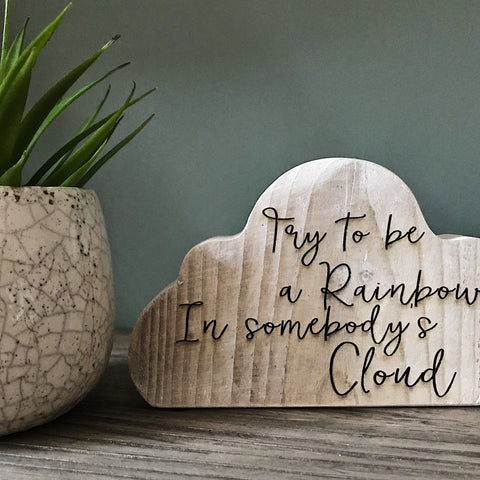 Rustic Wooden Cloud