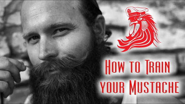 How to Train Your Mustache using Bossman MUDstache Training Wax