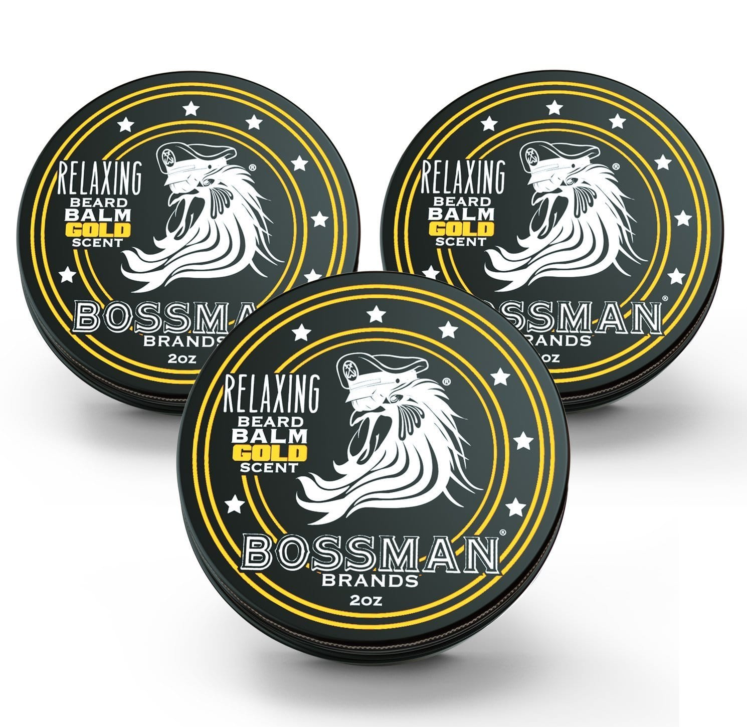 Bossman Relaxing Beard Balm - Gold Scent 3 Pack