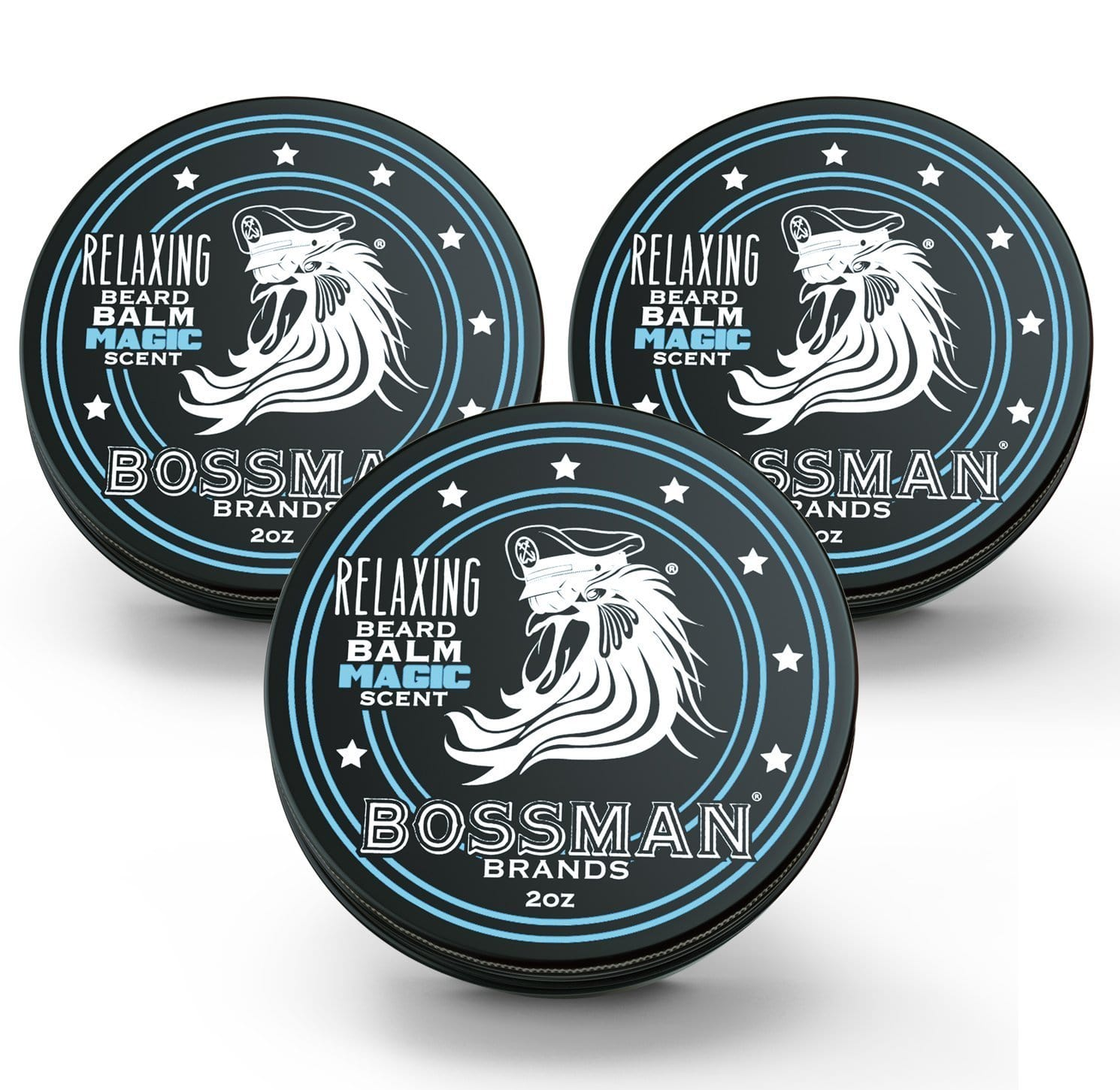 Bossman Relaxing Beard Balm - Magic Scent 3 Pack
