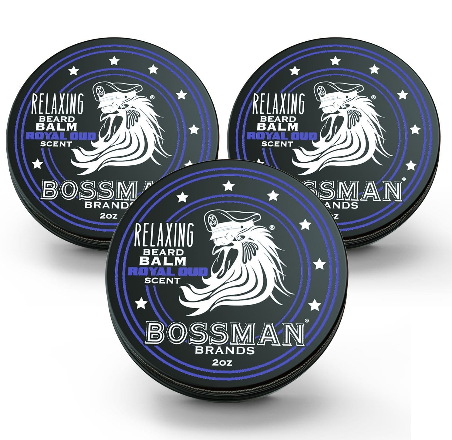 Bossman Relaxing Beard Balm - Royal Oud Scent 3 Pack