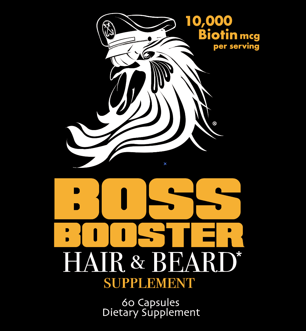 Boss Booster Beard & Hair Growth Supplements Label