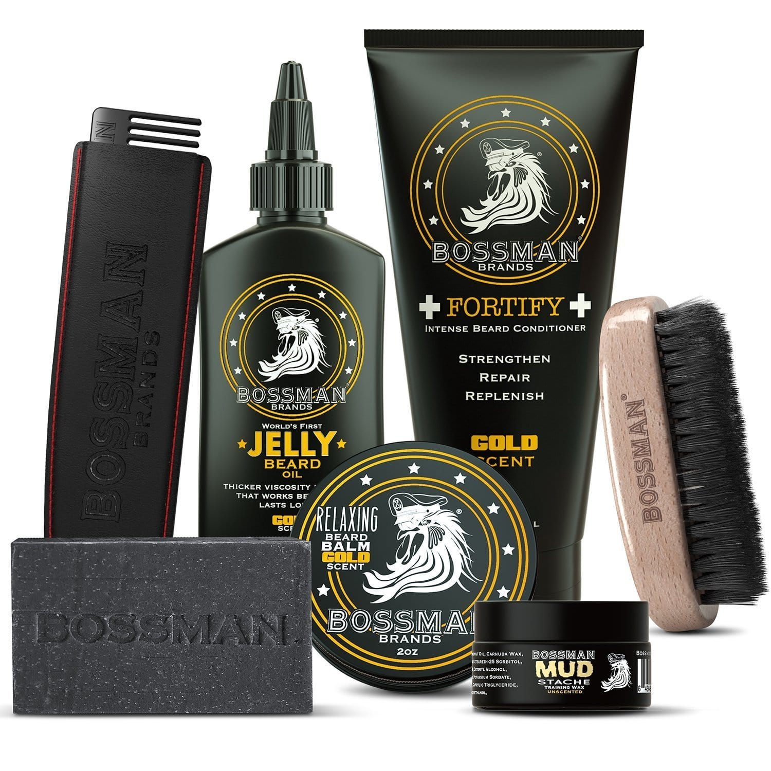 Bossman Big Boss Beard Care Kit - Gold Scent