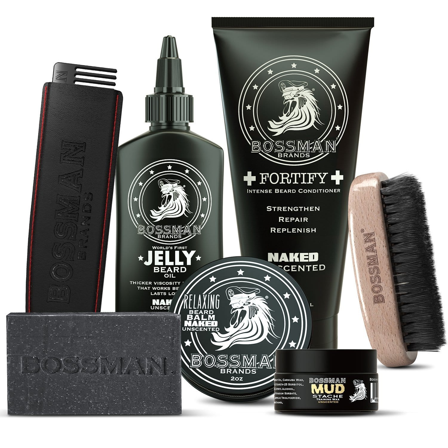 Bossman Big Boss Beard Care Kit - Naked Unscented