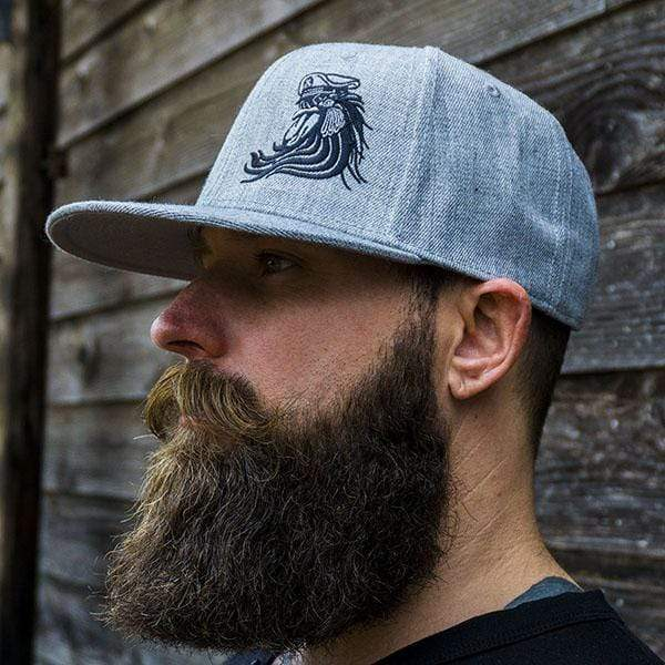Bossman Rooster Heather Grey Snapback Hat
