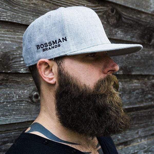 Bossman Logo Heather Grey Snapback Hat
