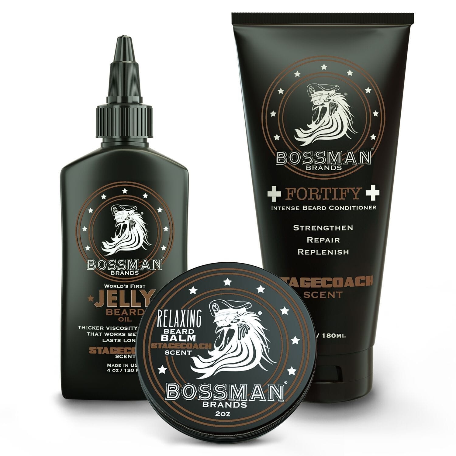 Bossman Essential Beard Care Kit - Stagecoach Scent
