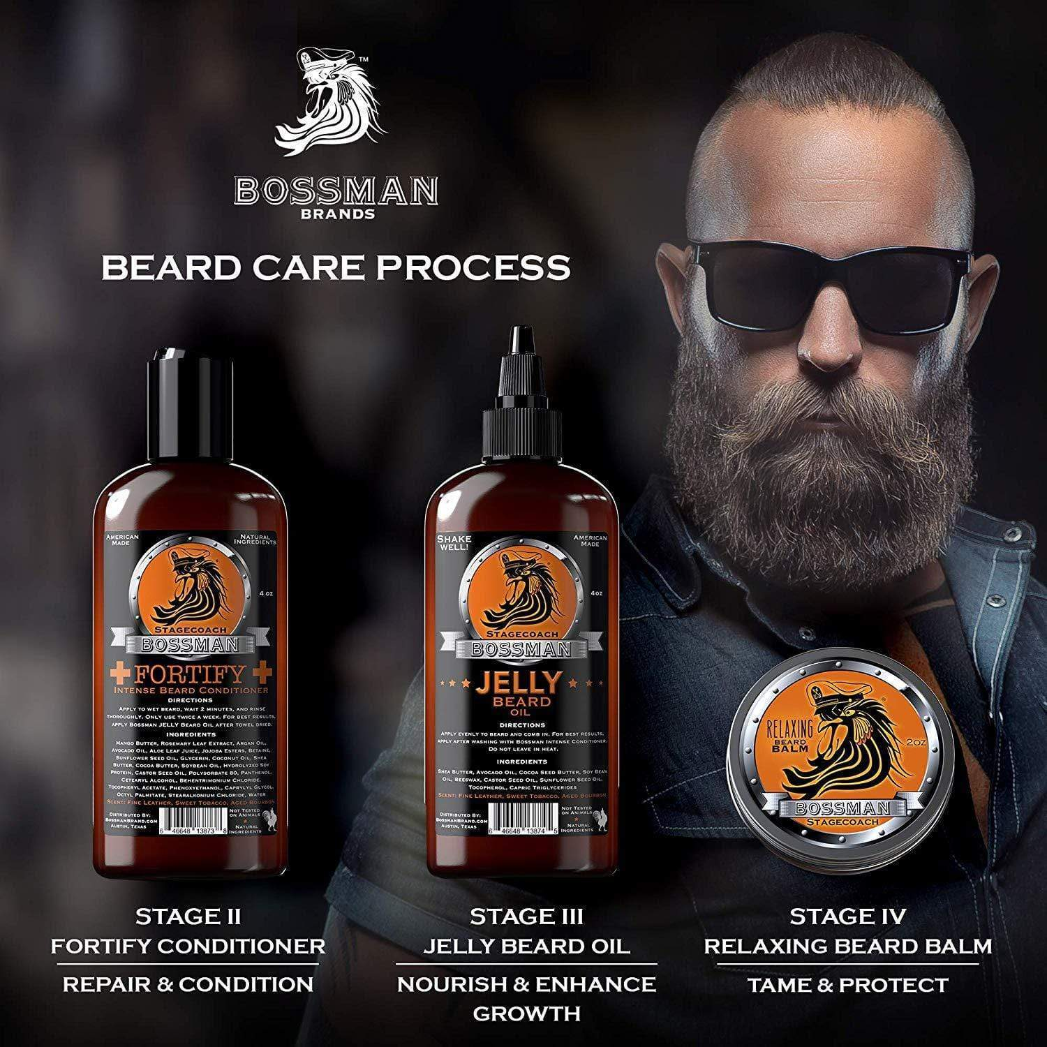 Bossman Essential Kit Beard Care Process
