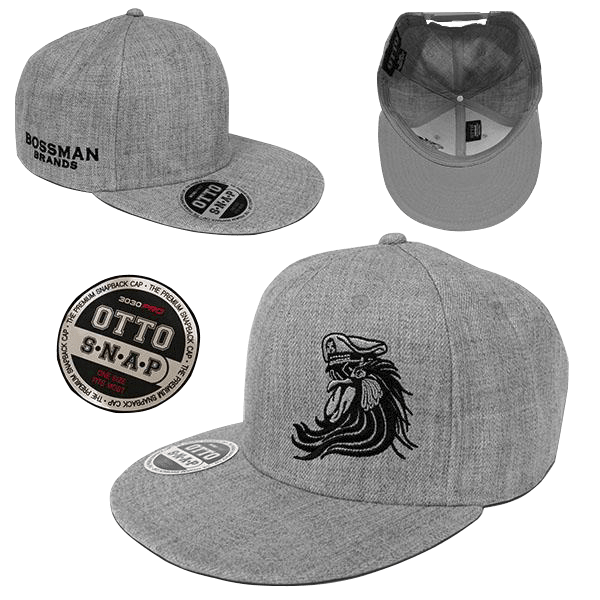 Bossman Heather Grey Snapback Hat