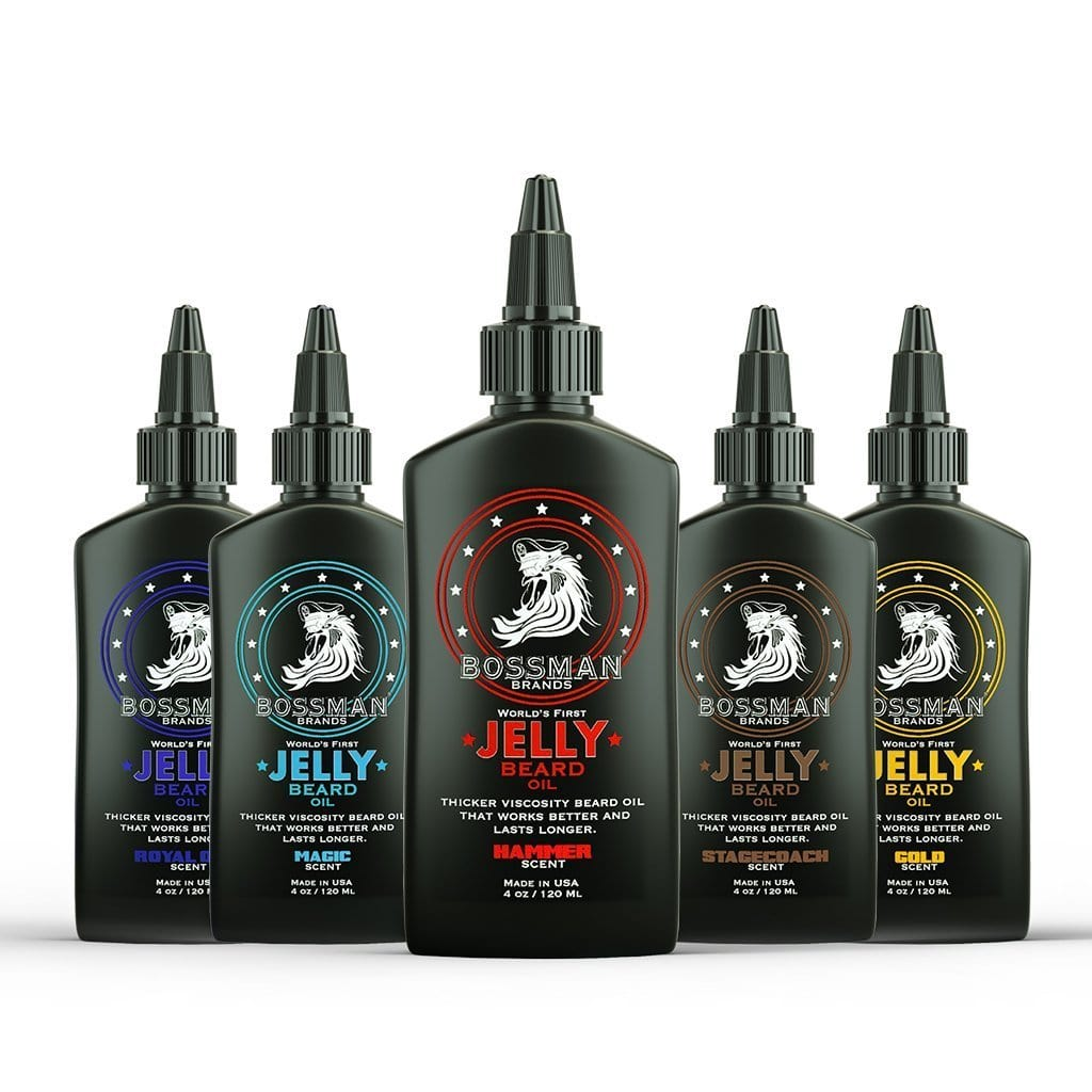 Bossman Jelly Beard Oil - 5 Pack