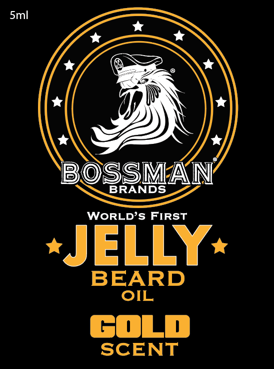 The World's First Jelly Beard Oil Gold Label