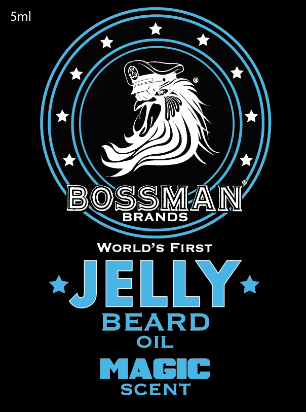 The World's First Jelly Beard Oil Magic Label