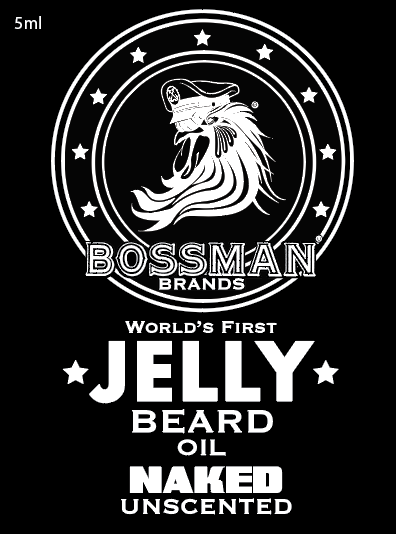 The World's First Jelly Beard Oil Naked Label