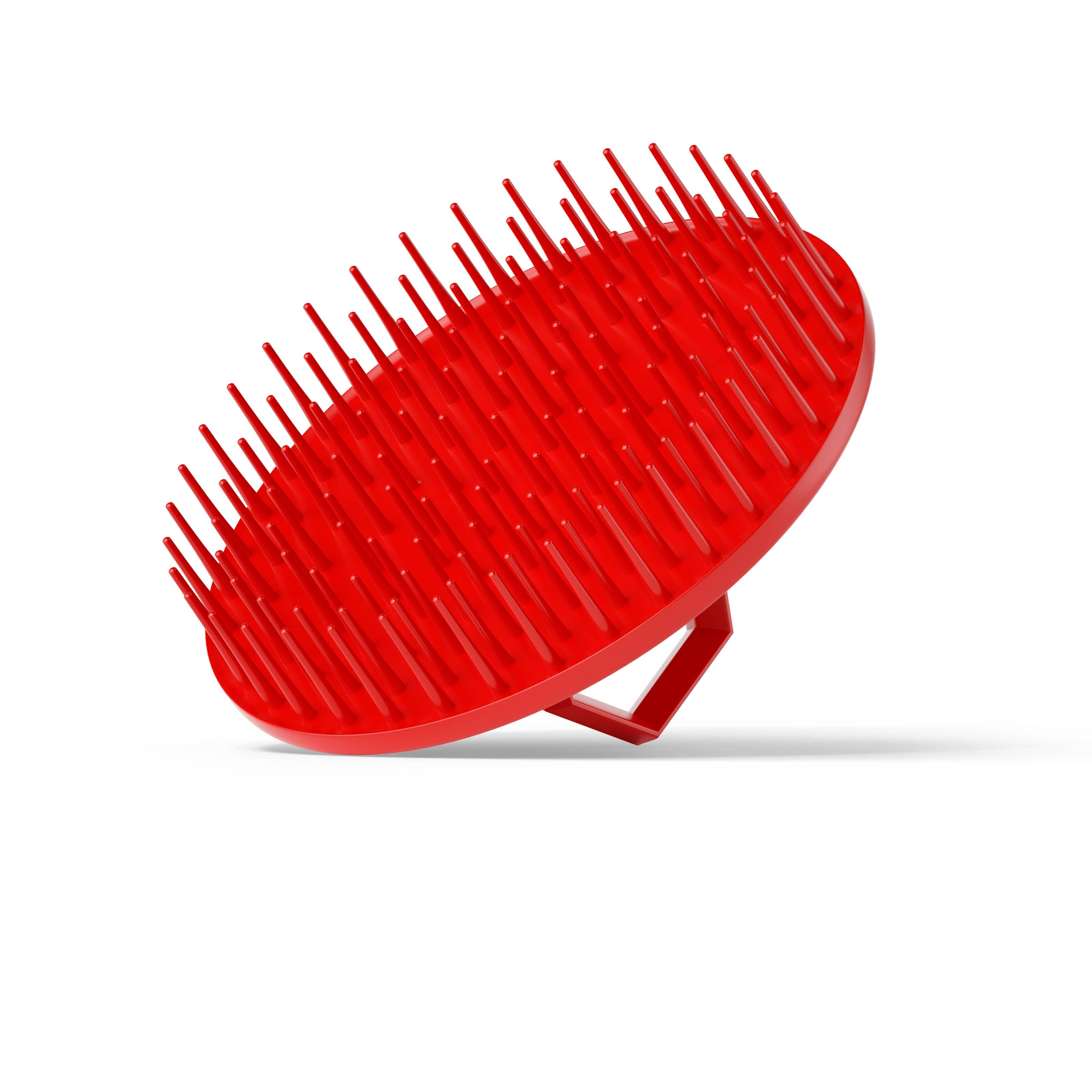 Bossman Beard & Scalp Massager Red Shampoo Brush