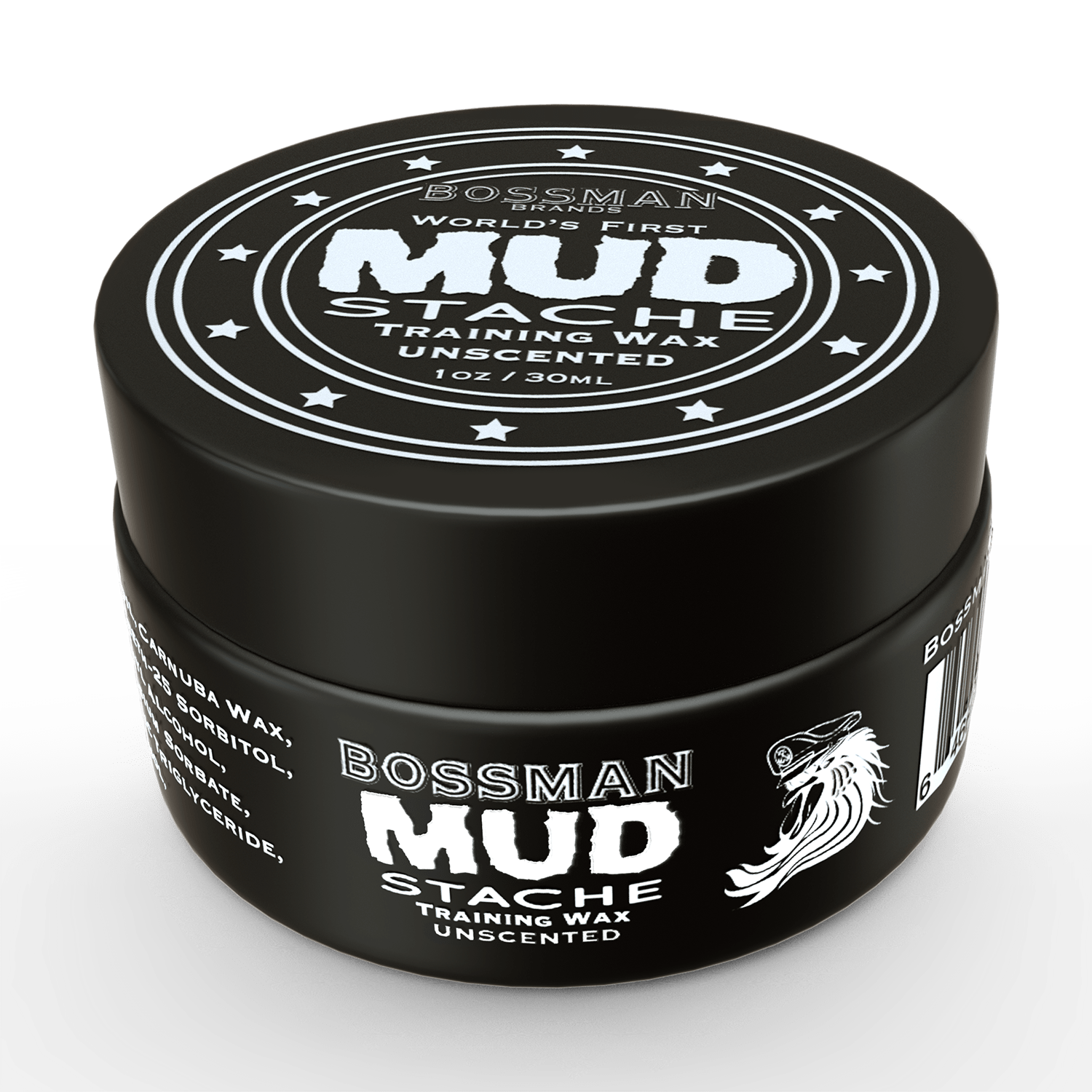 Bossman Unscented Mustache Training Wax