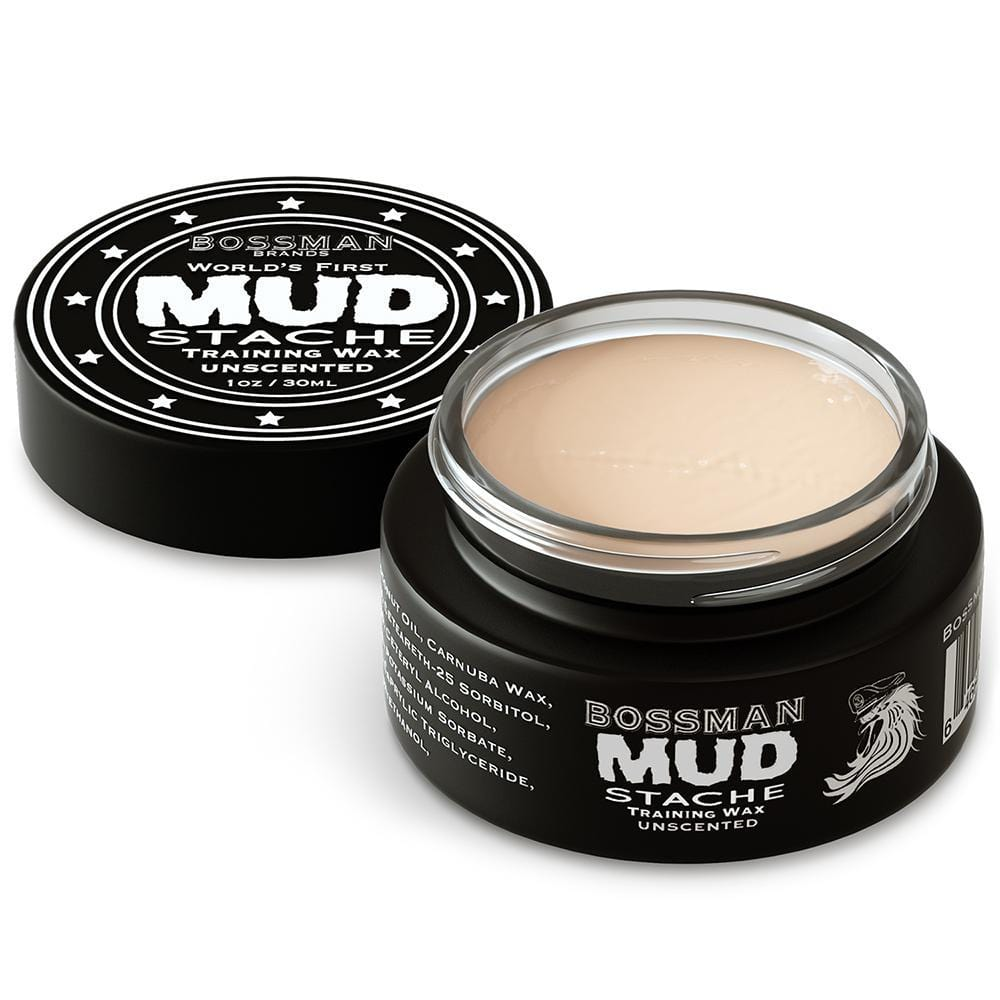 Bossman MUDstache Unscented Mustache Training Wax