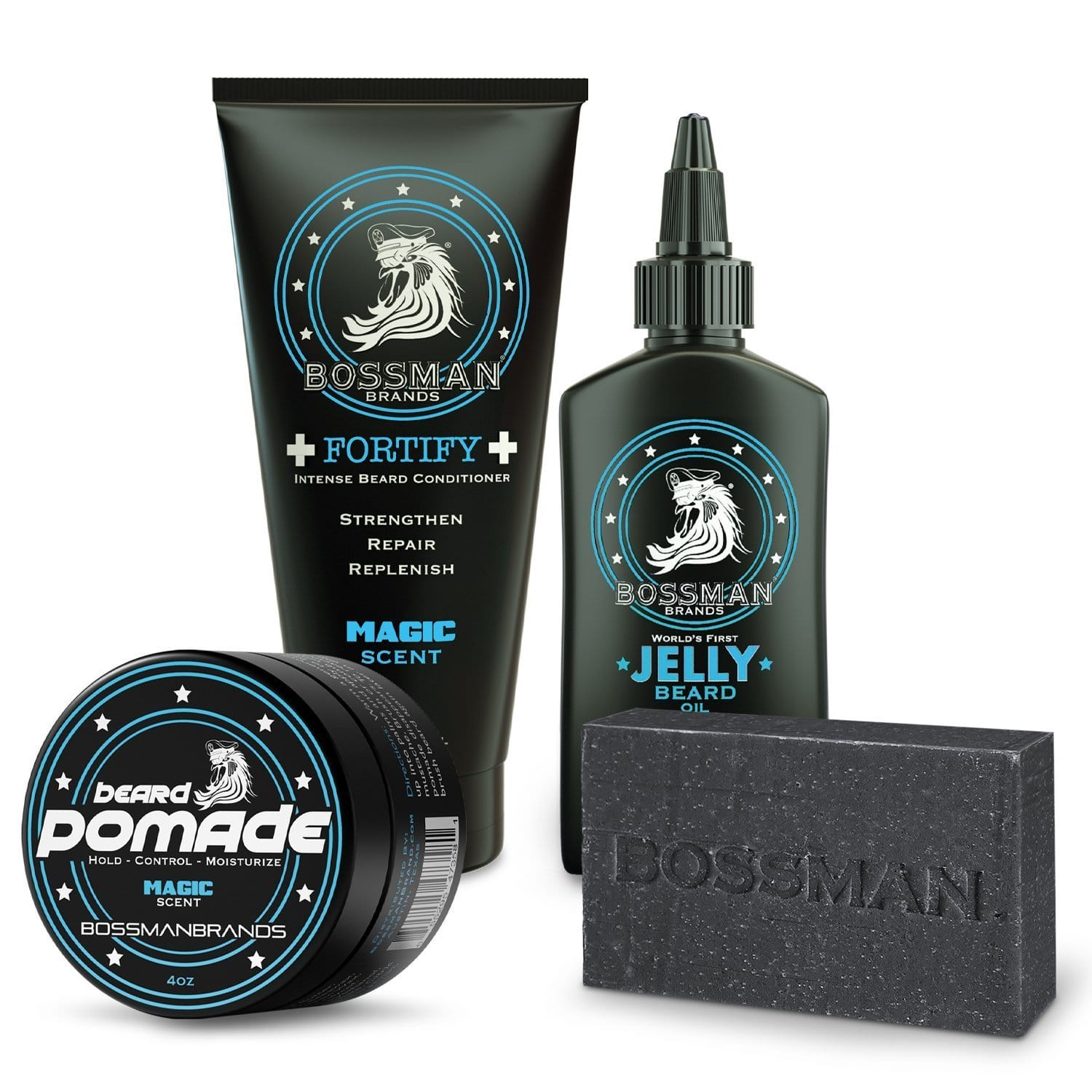 Bossman Professional Beard Kit - Magic Scent