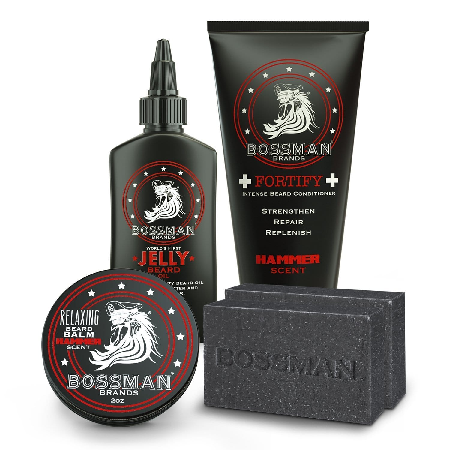 Bossman Reload Beard Care Kit - Hammer Scent
