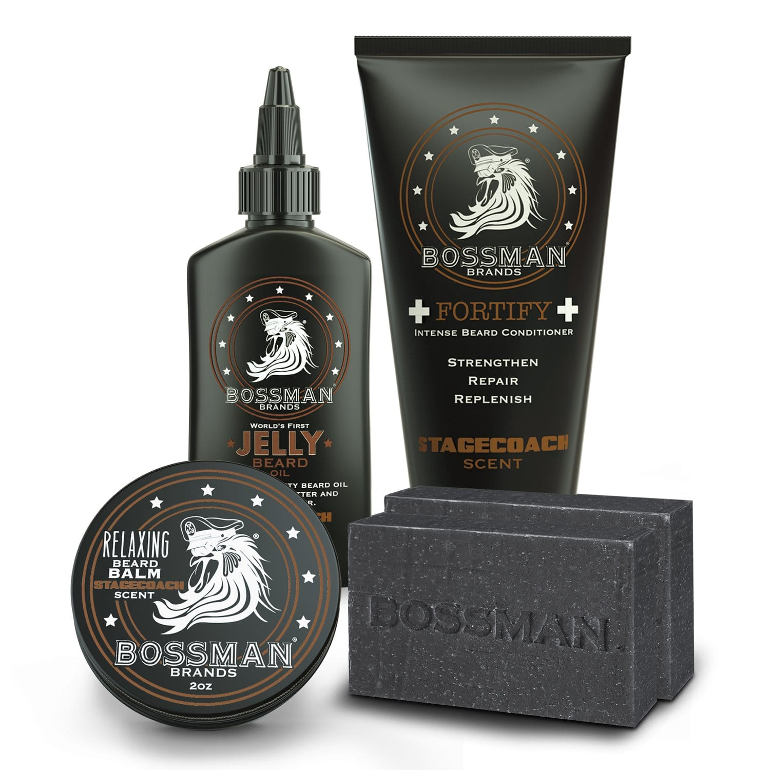Bossman Reload Beard Care Kit - Stagecoach Scent