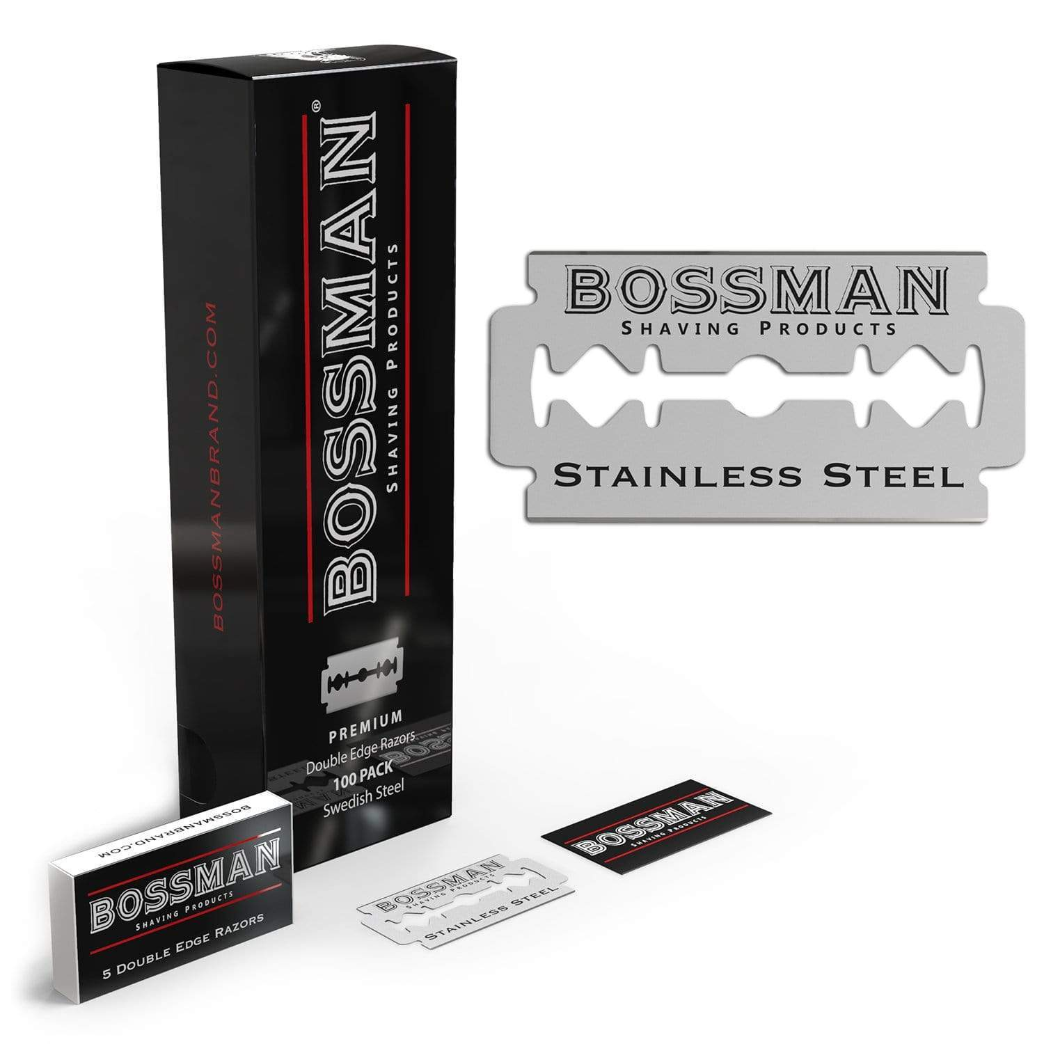 Bossman Double Edge Replacement Blades - 100 Pack